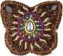 Schmuckdöschen, Schmuckschachtel Schmetterling in 5 Farben (Farbe - braun)