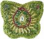 Schmuckdöschen, Schmuckschachtel Schmetterling in 5 Farben (Farbe - grün)