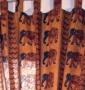 Baumwollvorh�nge handbedruckt Nr. 21 2,90m
