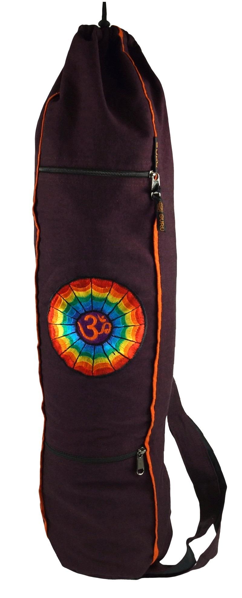 Yogamatten-Tasche Regenbogen Om - wine - 65*15*15*15 cm