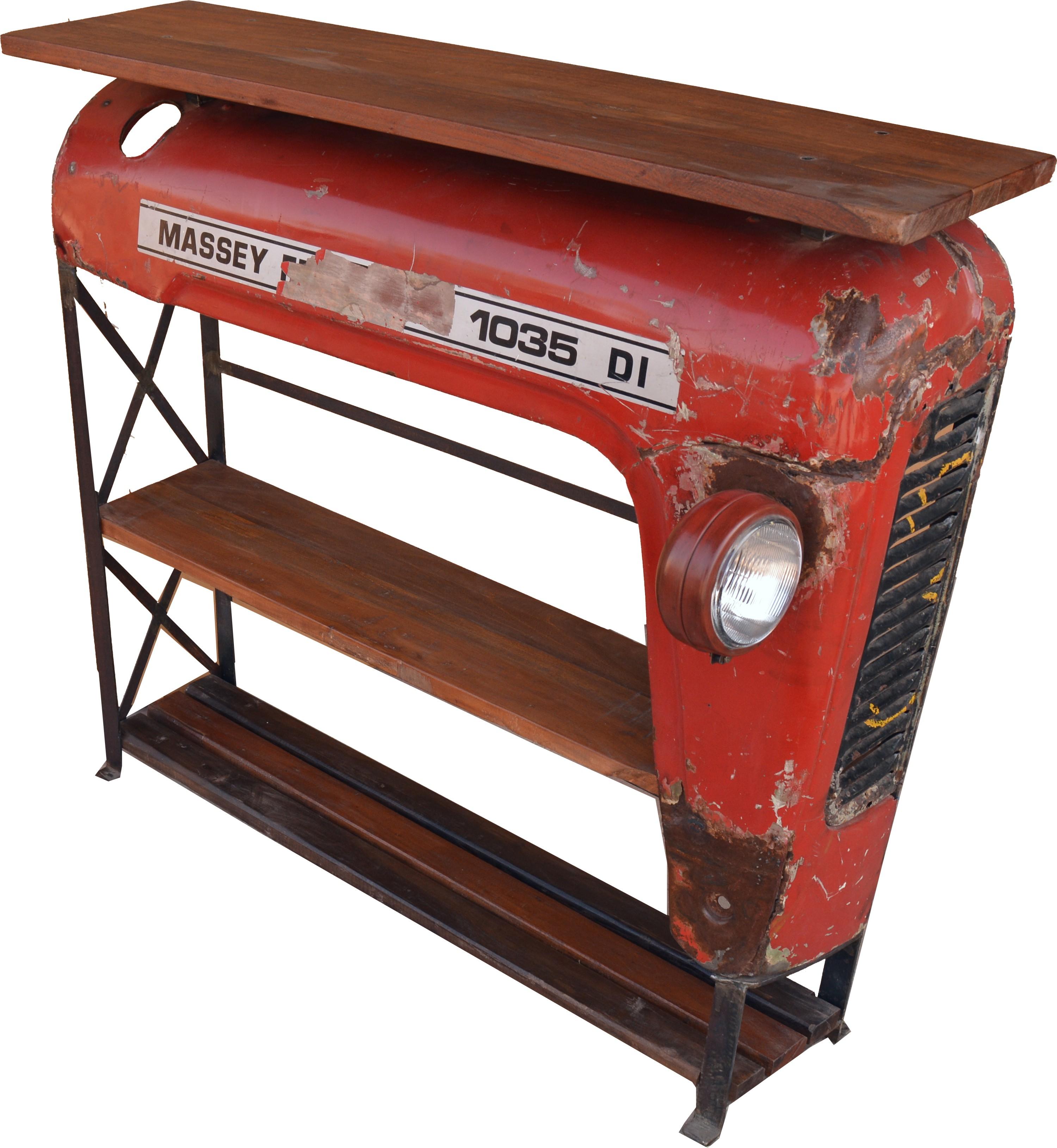 traktor regal sideboard mit holzplatte. Black Bedroom Furniture Sets. Home Design Ideas