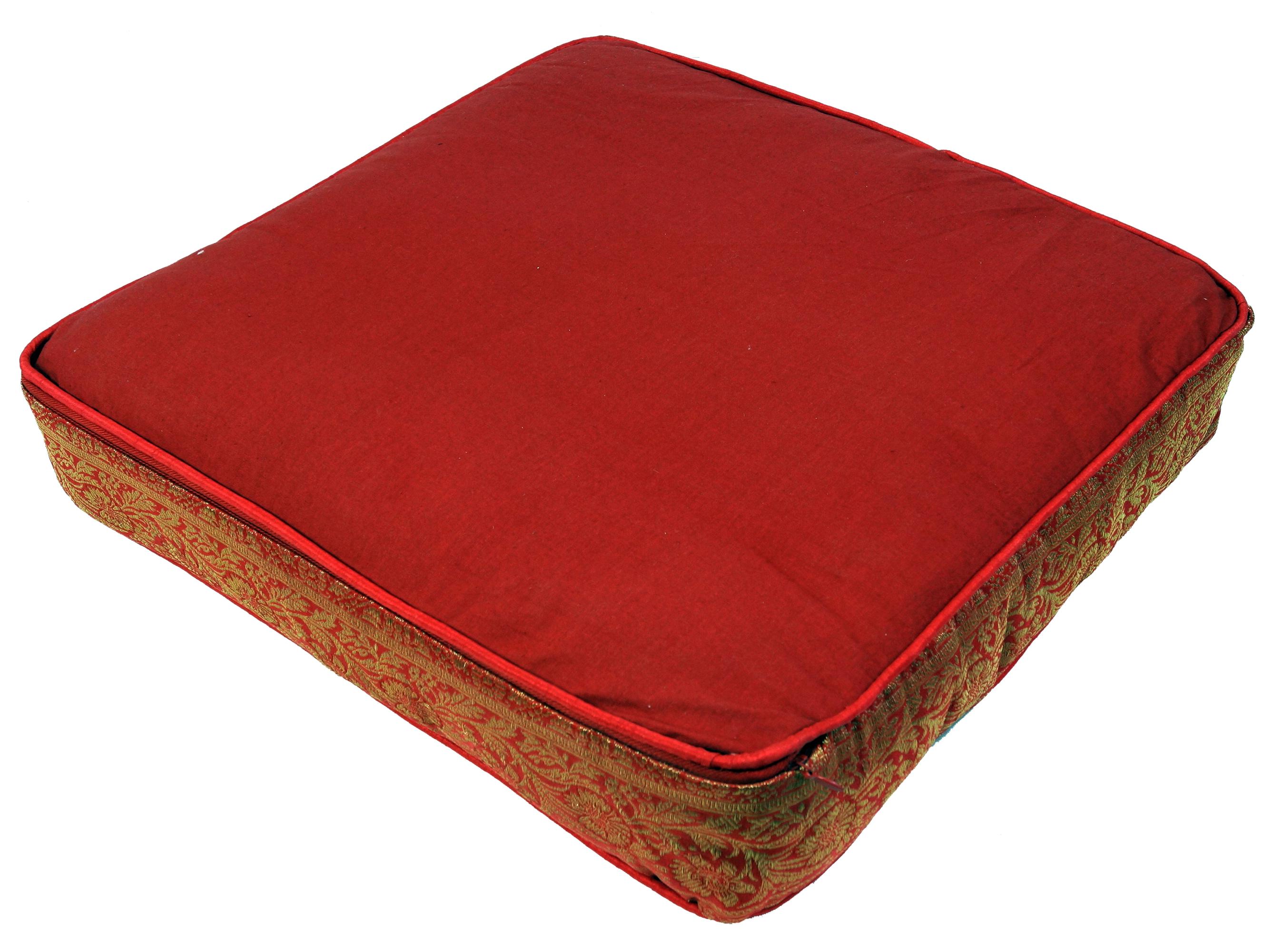orientalisches eckiges patchwork kissen 40 cm sitzkissen bodenkissen mit baumwollf llung rot. Black Bedroom Furniture Sets. Home Design Ideas
