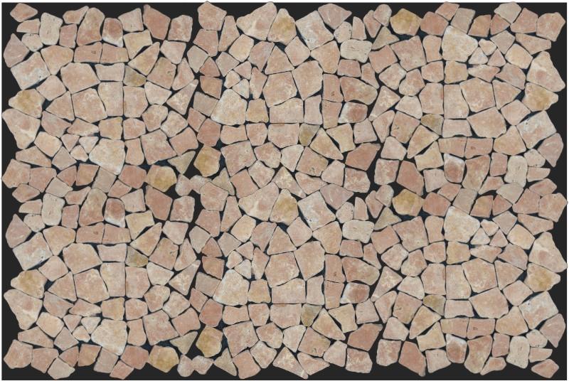 Mosaik flächen fliesen aus marmor rot j