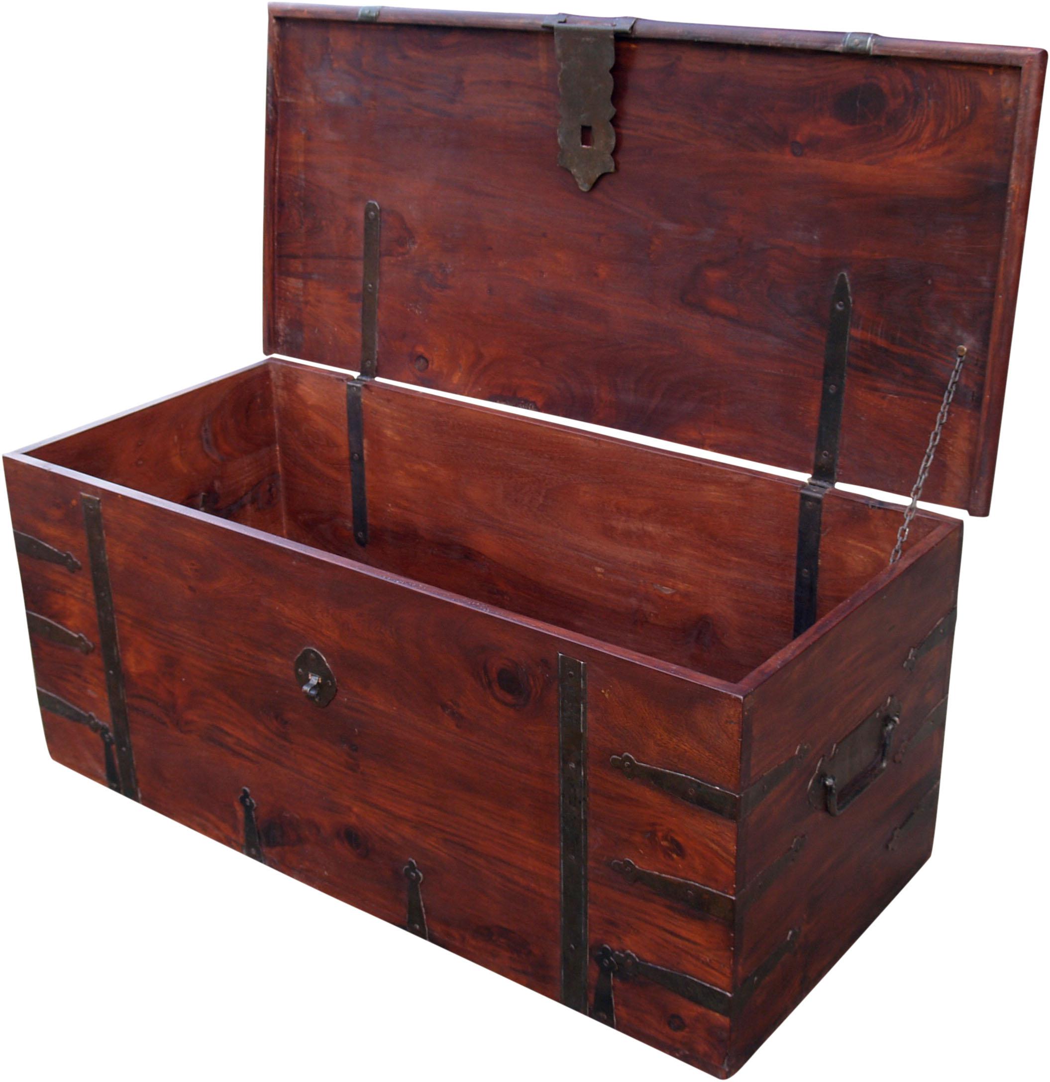 kolonialstil truhe r251. Black Bedroom Furniture Sets. Home Design Ideas