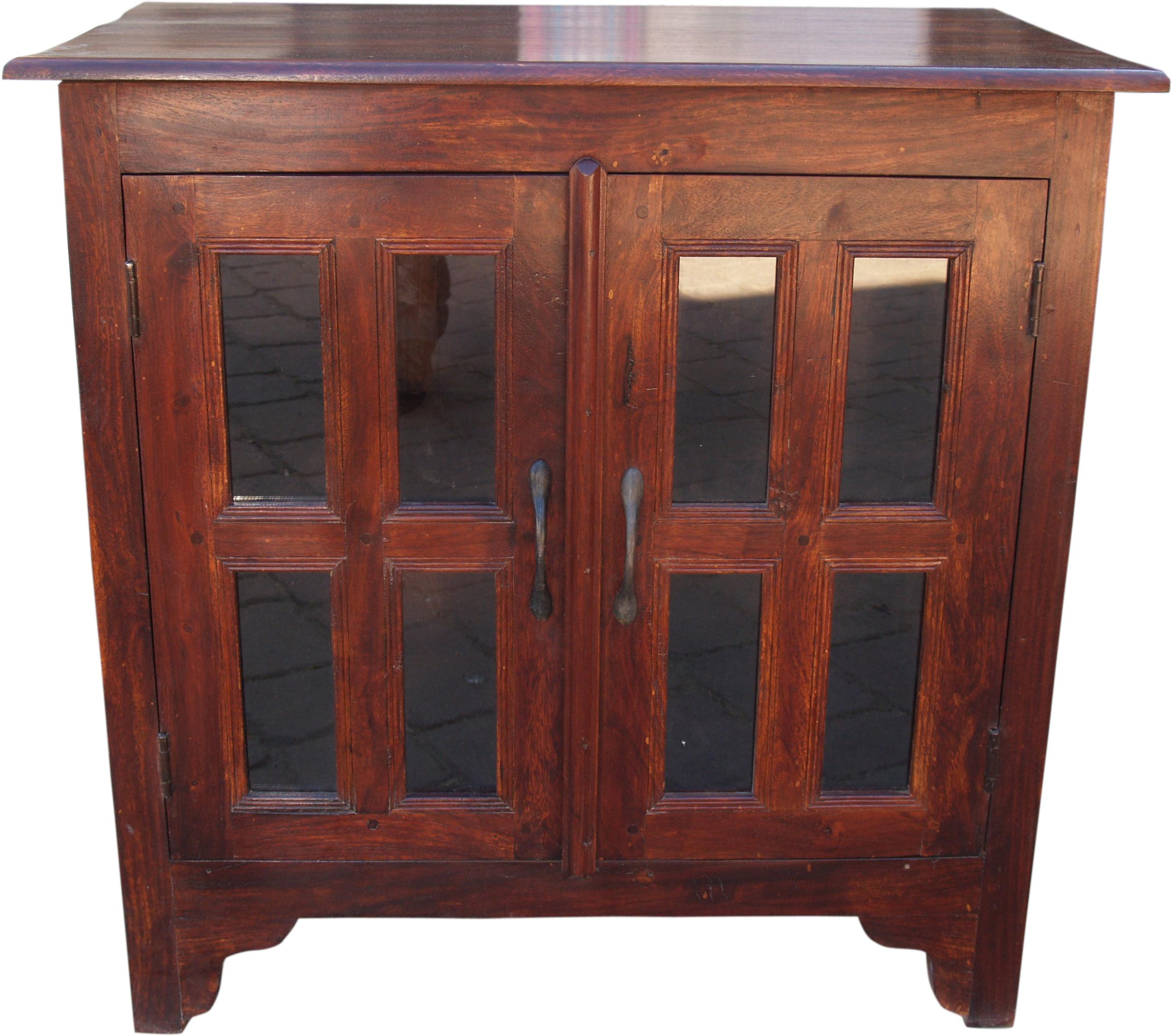 kolonialstil kommodenschr nkchen mit glast r. Black Bedroom Furniture Sets. Home Design Ideas