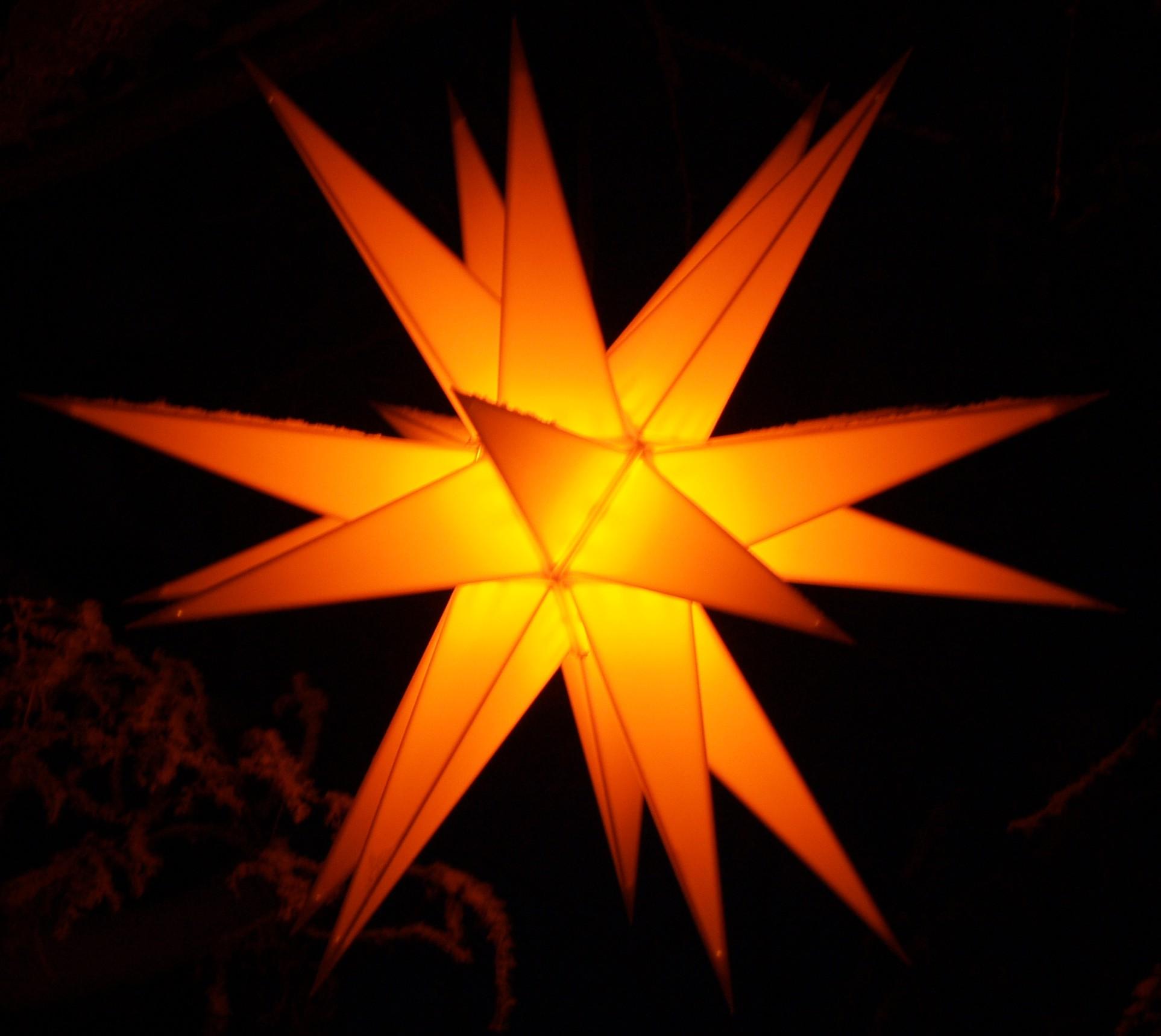 Ministern baltasar gelb f r innen und au en - Stern beleuchtet weihnachten ...