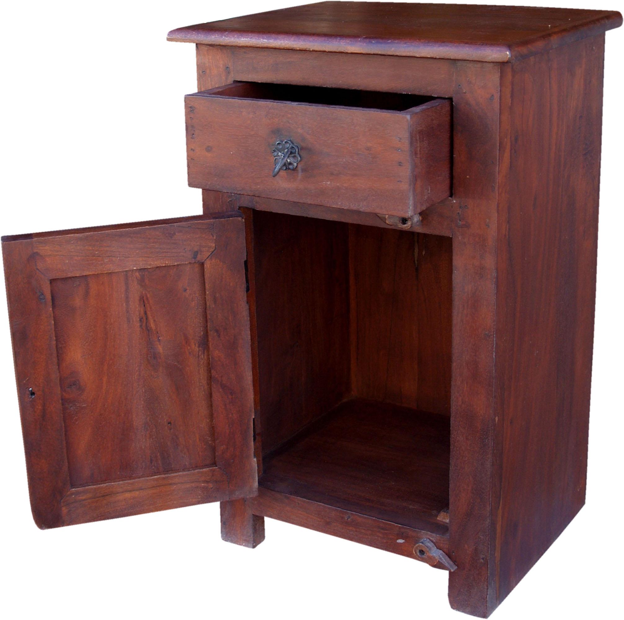 beistellschrank nachttischschrank im kolonialstil. Black Bedroom Furniture Sets. Home Design Ideas