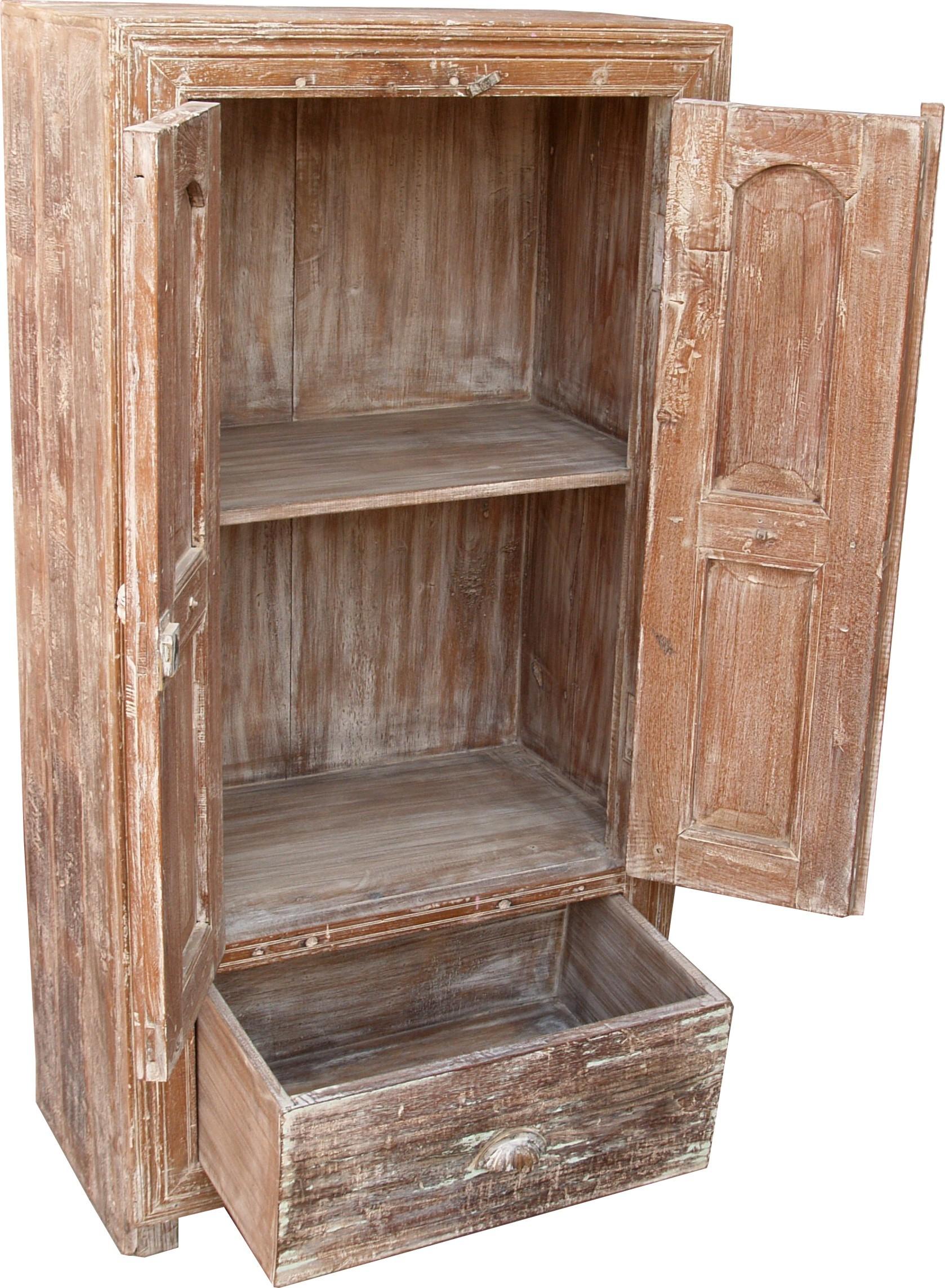 kleiner antikwei er schrank beistellschrank jh0 35. Black Bedroom Furniture Sets. Home Design Ideas