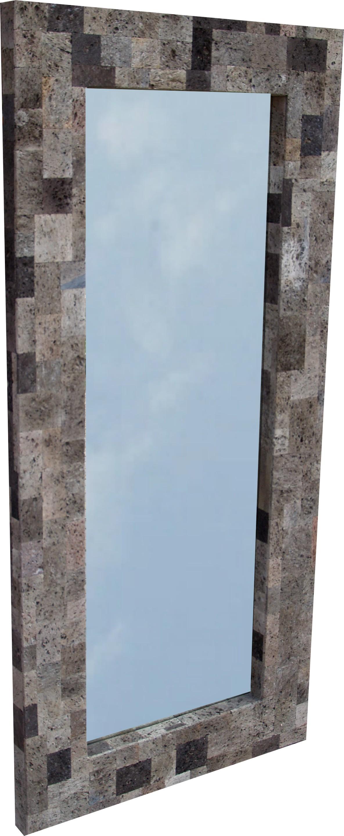 Lavastein spiegel 130 60 cm for Rustikaler spiegel