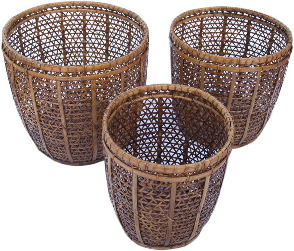 Rattankorb rattan korb asmatio in naturfarben rattan for Blumentopf korb