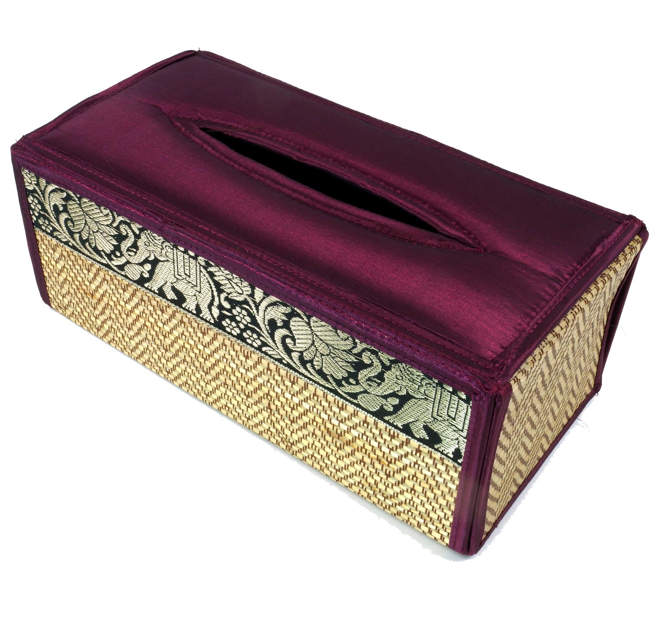 kosmetikt cher servietten box aus rattan 10 25 13 cm ebay. Black Bedroom Furniture Sets. Home Design Ideas