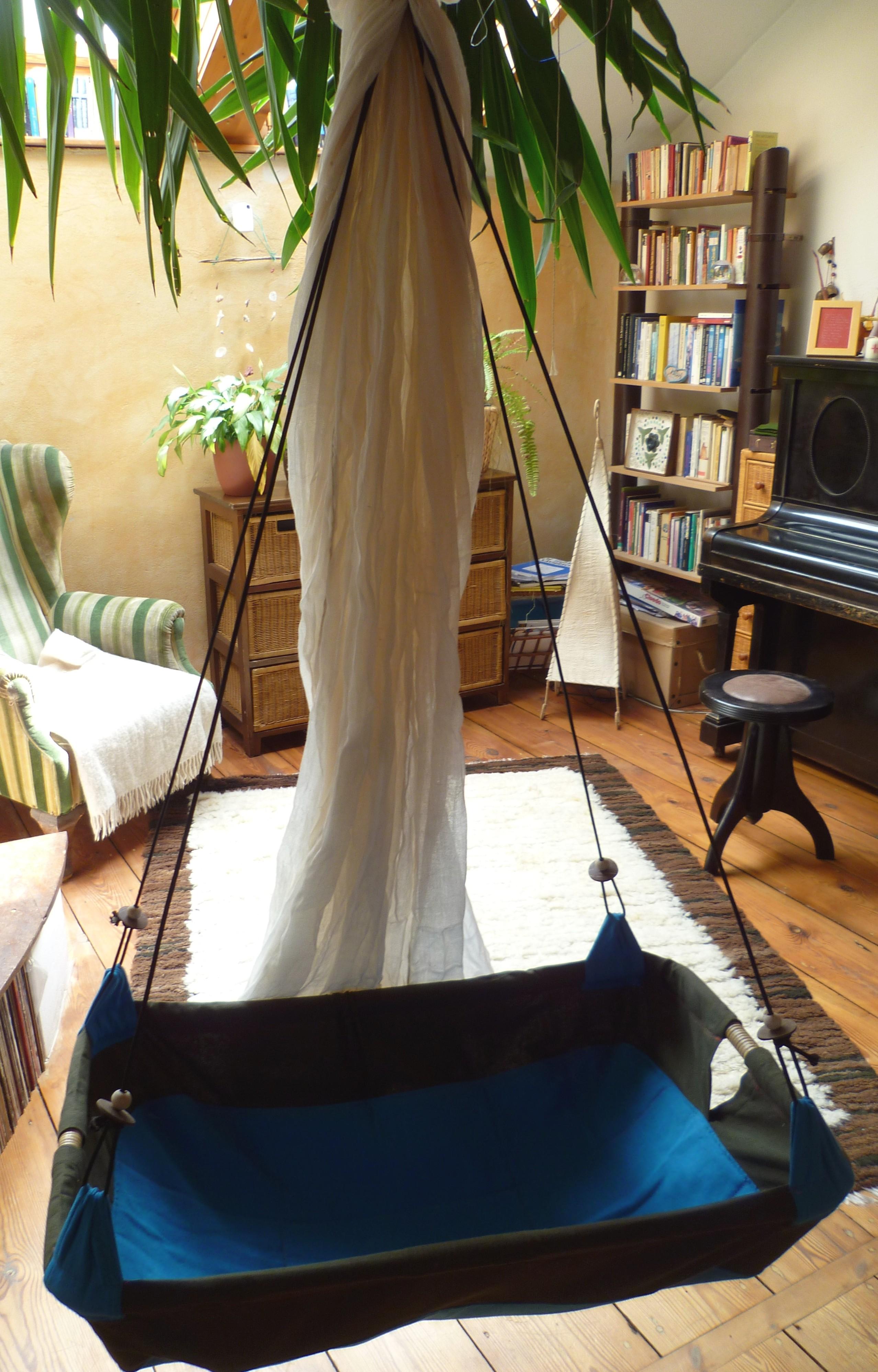 baby h ngematte mit moskitonetz t rkies. Black Bedroom Furniture Sets. Home Design Ideas