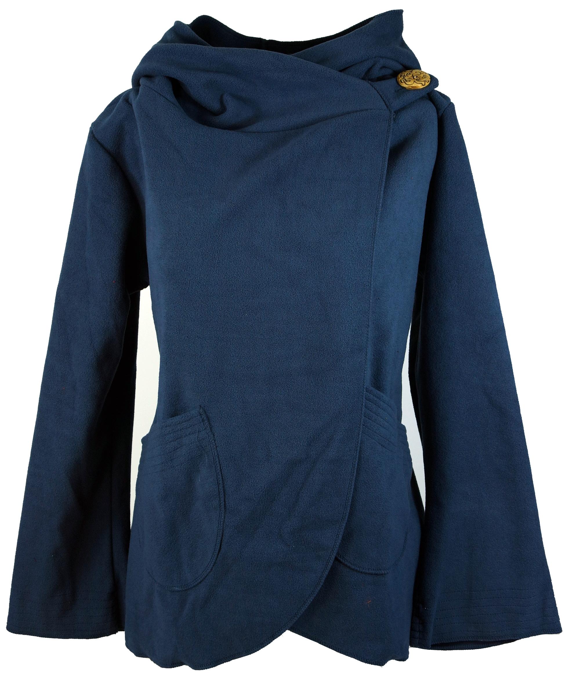 Fleece Cape Wickeljacke - taubenblau