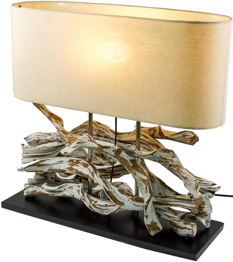 tischlampe tischleuchte marimbula handgefertigtes unikat aus naturmaterial holz baumwolle. Black Bedroom Furniture Sets. Home Design Ideas