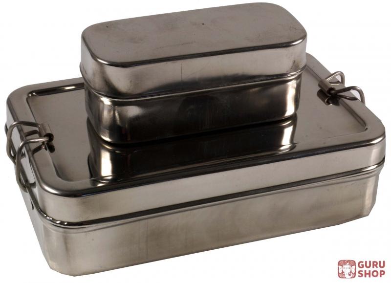 edelstahl brotdose fr hst cksbox vesperdose 2 r set 5 17 10 cm ebay. Black Bedroom Furniture Sets. Home Design Ideas