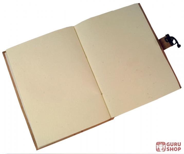 notizbuch lederbuch tagebuch mit ledereinband und elefant motiv 17 23 cm ebay. Black Bedroom Furniture Sets. Home Design Ideas