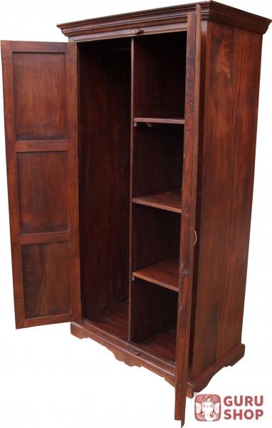 kleiderschrank im kolonialstil kleiderstange 185 100 52 cm ebay. Black Bedroom Furniture Sets. Home Design Ideas