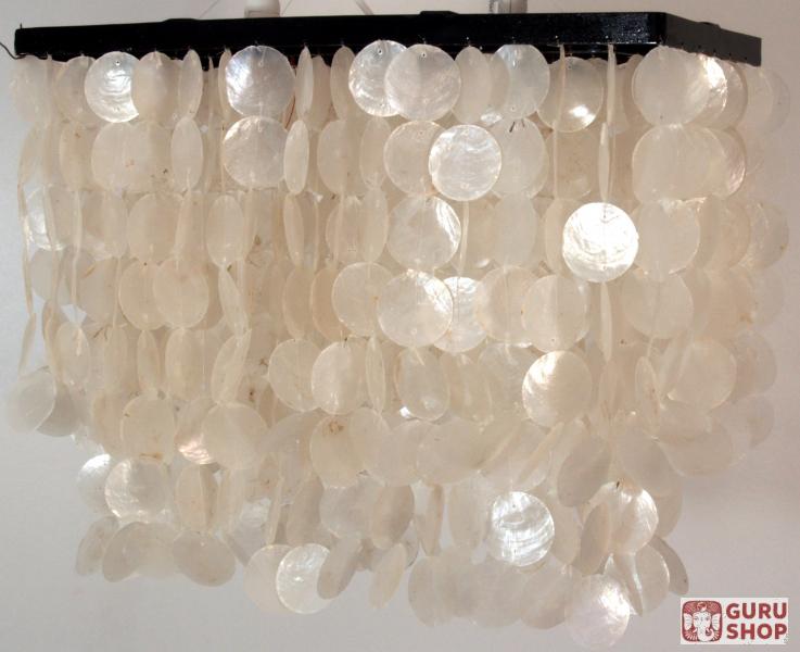 rechteckige muschel deckenlampe 6 40 50 20 cm ebay. Black Bedroom Furniture Sets. Home Design Ideas