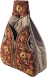 Leather shoulder bag made in kashmir - greybrown