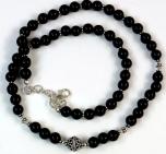 Mala bracelet and chain onyx