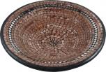 hellbraune Mosaikschale mit Spiegeln rund