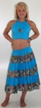 Children dress-kombi step skirt hippie goa db-20 blue