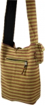 Sadhu bag striped 1 lemmon/brown
