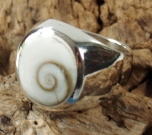 Silver ring with shiva-shell - 3