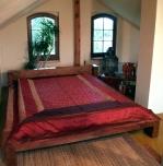 Brocade bedsheet, bedspread red