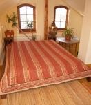 Blockprint bedspread