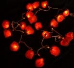 Blüten Lichterkette 20 Stk. Rose - orange