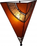 Henna - Leder Wandlampe `Venus oriental`