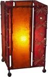 Leather-saree table lamp `Mandalay`