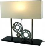 Metall -Stehlampe Zahnräder, Industrial Style,