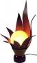 Palmenblatt Tischlampe / Tischleuchte Orania - in Bali handgemacht aus Naturmaterial, Palmholz,