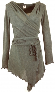 Pixi Wickel-Strickjacke - helles khaki