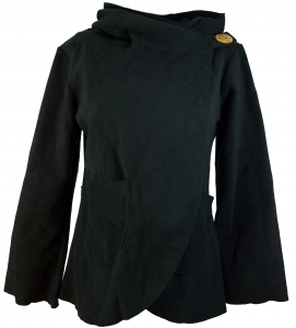 Fleece Cape Wickeljacke - schwarz