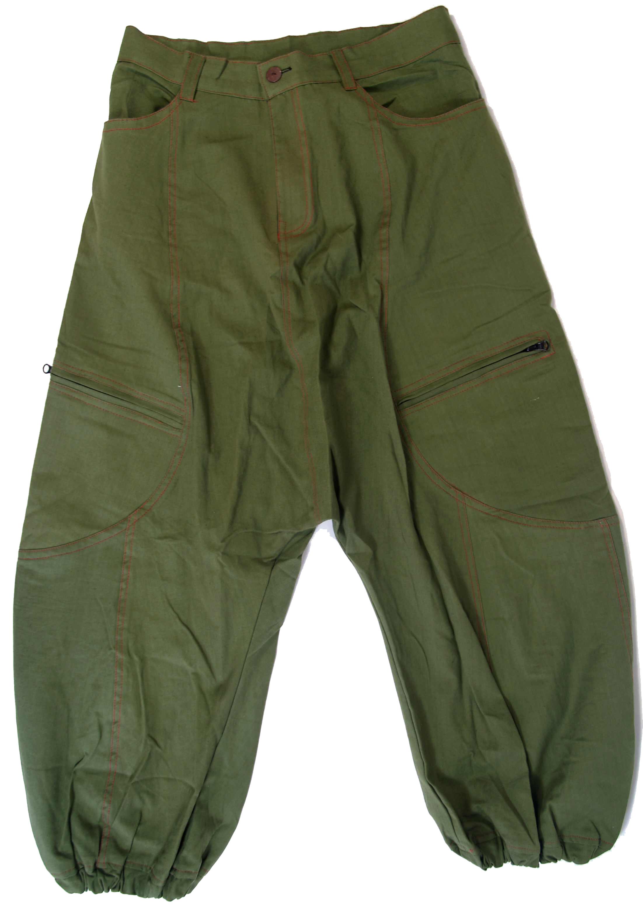 Guru Shop De harem trousers harem trousers bloomers trousers olive green