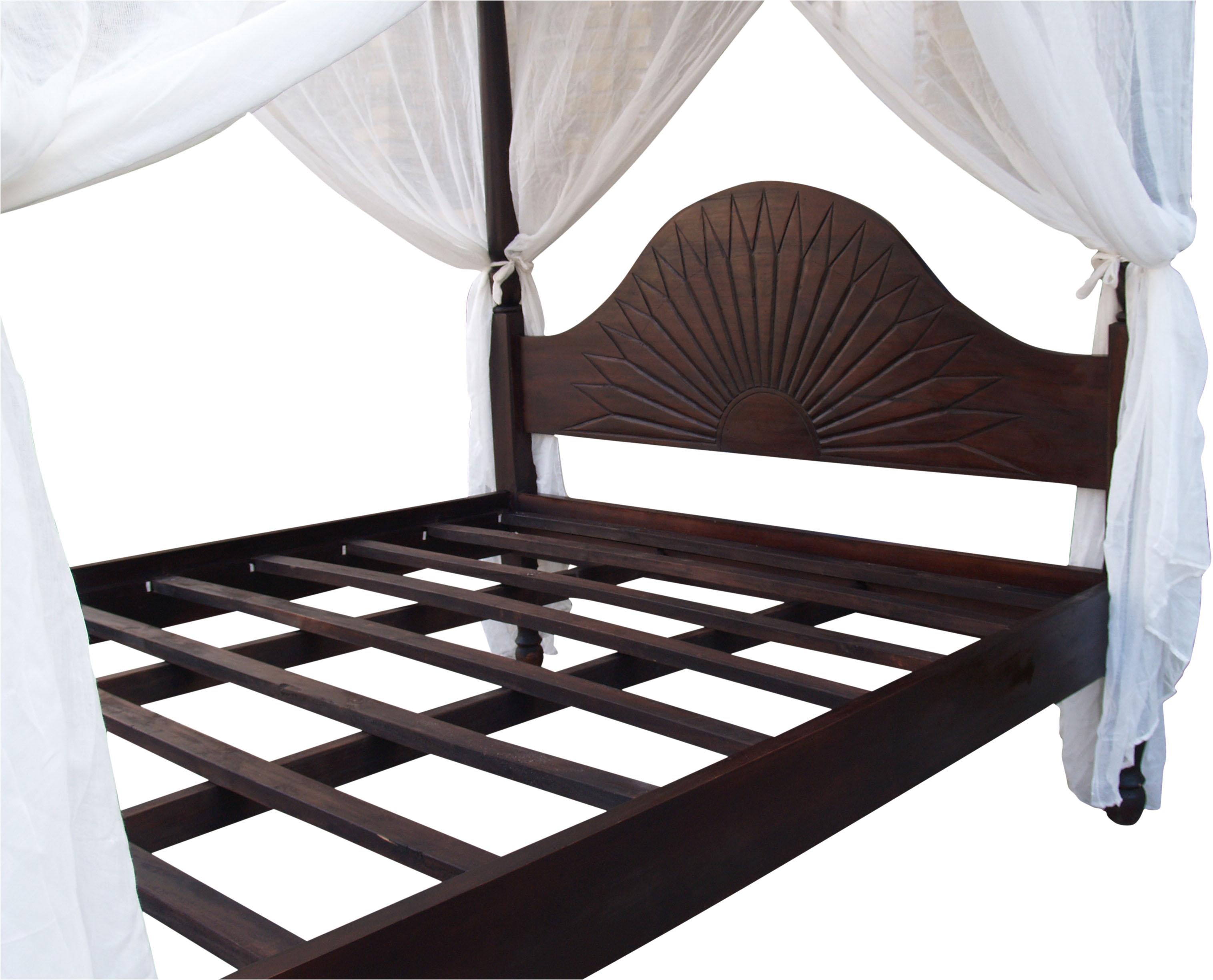 himmelbett ubud aus teakholz dunkel 200x170x220 cm. Black Bedroom Furniture Sets. Home Design Ideas