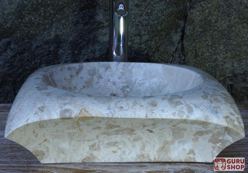 Massives marmor aufsatz waschbecken waschschale for Aufsatzwaschbecken naturstein