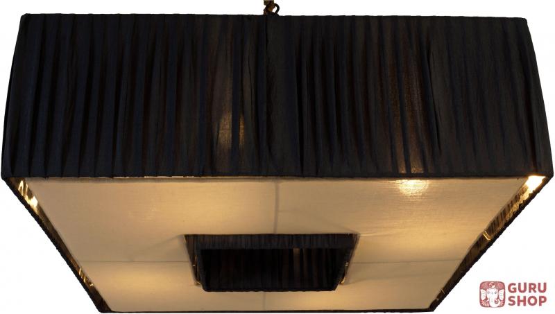 deckenleuchte eneas handgefertigte designleuchte aus bali seidenstoff 20x58x58 cm. Black Bedroom Furniture Sets. Home Design Ideas