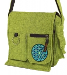 Shoulder bag, hippie bag - green
