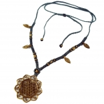 Makramee Kette `Flower of life´