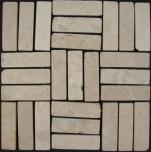 Stäbchen Mosaik Fliesen aus Marmor (P-05)