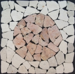Mosaic tile with circlemade ofmarble (mo-09)