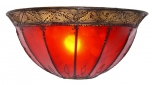 Henna - leather wall lamp kalif